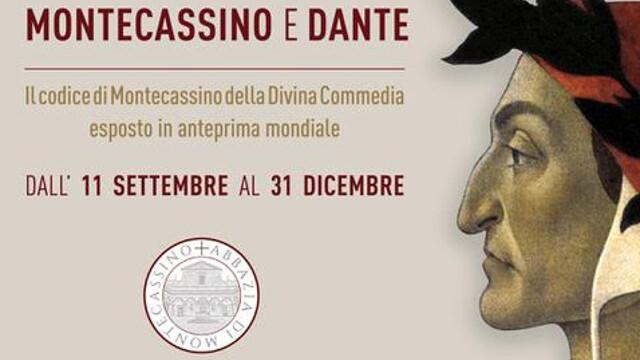 Montecassino e Dante, in mostra il codice 512 della Divina Commedia fino al 31 dicembre